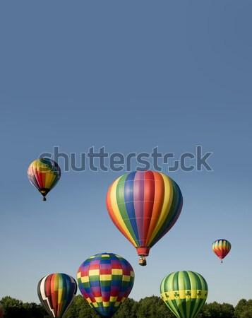 Léggömbök felemelkedik fesztivál különböző színes égbolt Stock fotó © Balefire9