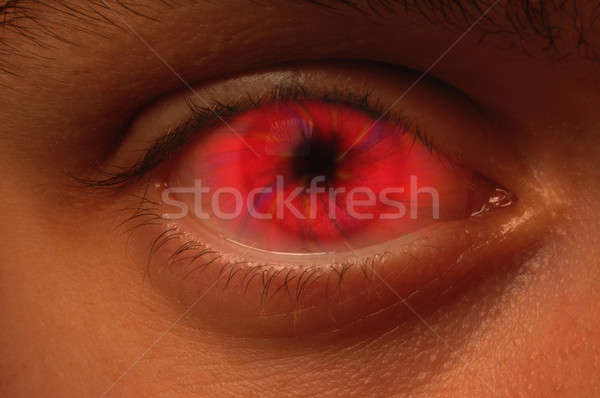 Red Vortex in an eyeball Stock photo © Balefire9