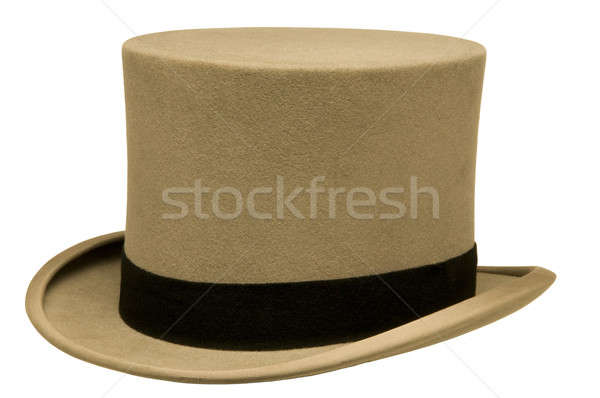 Klasszikus szürke felső kalap fehér retro Stock fotó © Balefire9