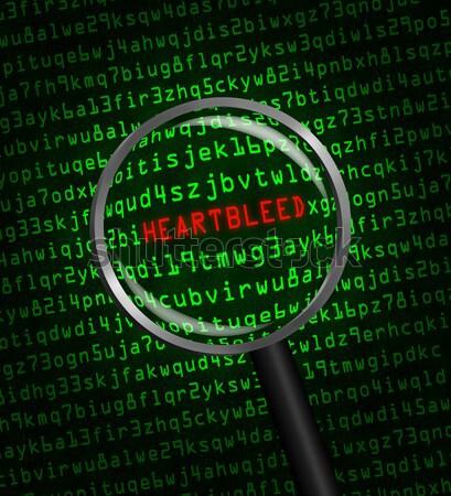 Spyware kule maszyny kodu zielone wirusa Zdjęcia stock © Balefire9