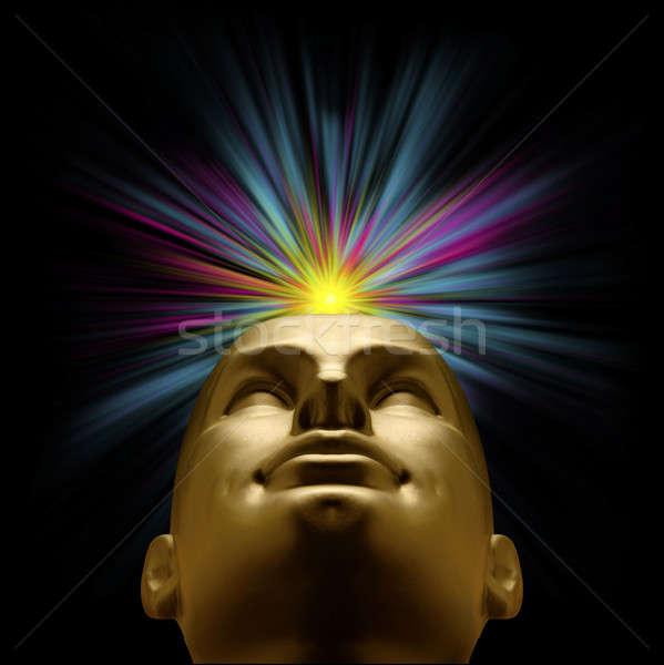 Dourado manequim cabeça explosão pastel luz Foto stock © Balefire9