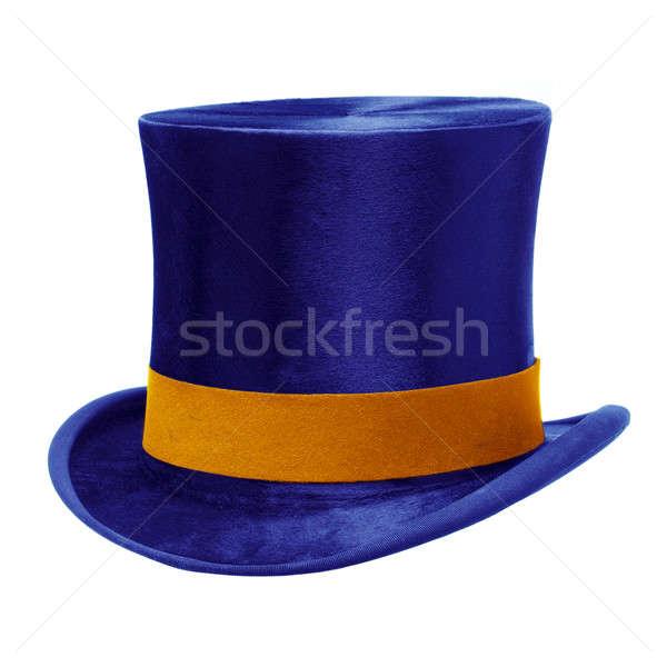 Niebieski górę hat biały złota zespołu Zdjęcia stock © Balefire9
