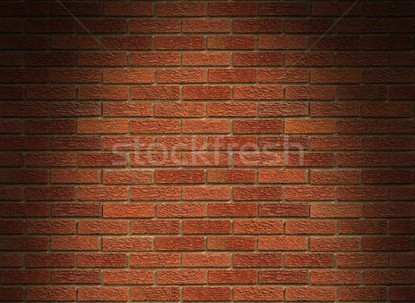 Red brick wall lit from above Stock photo © Balefire9