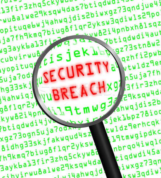 Piros biztonság törés zöld számítógép kód Stock fotó © Balefire9