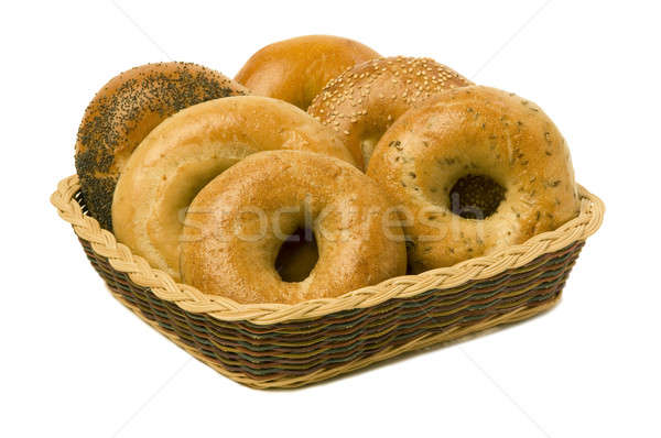 Six Bagels in a Basket Stock photo © Balefire9
