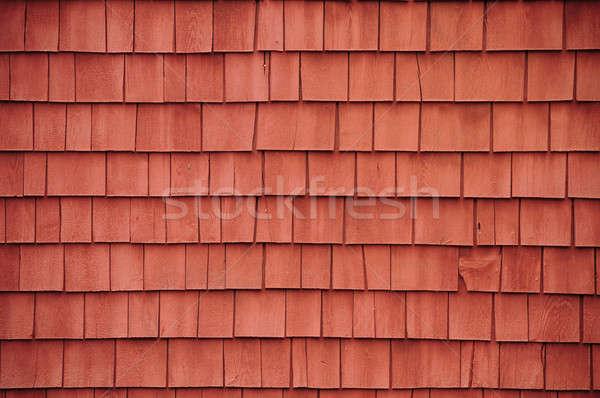 Red shingles on a barn Stock photo © Balefire9