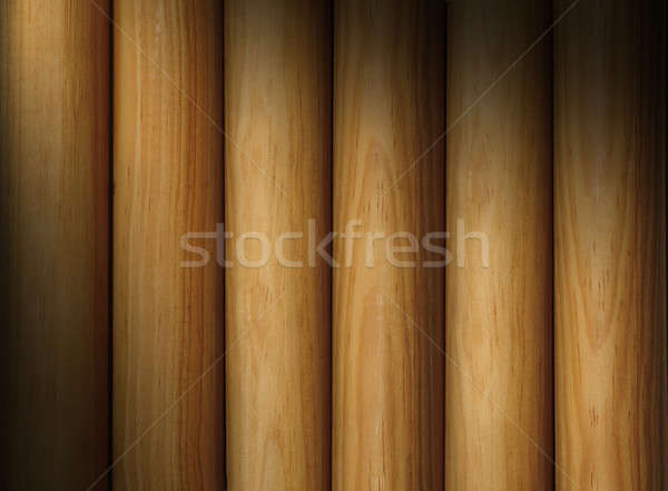 Wooden pole background texture lit diagonally Stock photo © Balefire9