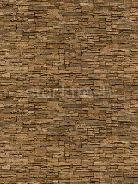 Irregular bricks, seamlessly tileable Stock photo © Balefire9