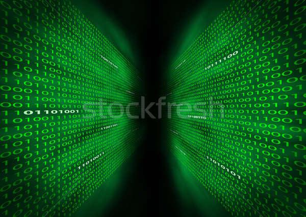 Two walls of binary code Stock photo © Balefire9