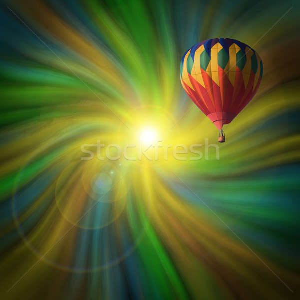 Hot-Air Balloon Flying in a Vortex Stock photo © Balefire9