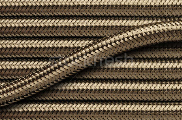 Flexible stainless steel piping tubes Stock photo © Balefire9
