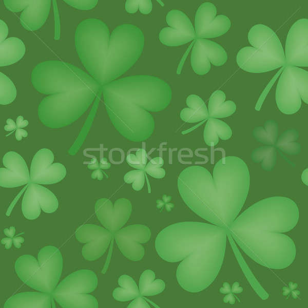Seamless Pattern of Shamrock Shapes of Varying Sizes Stock photo © Balefire9