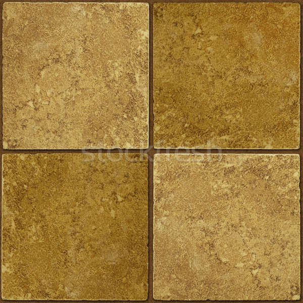 Ceramic two-tone greenish brown stone tiles seamlessly tileable Stock photo © Balefire9