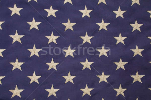 Stock photo: White stars on a field of blue representing the union on the Ame
