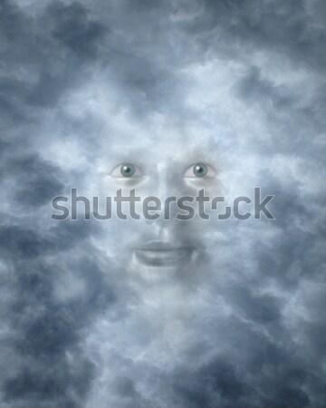 Spirituale facce nubi dio divinità faccia Foto d'archivio © Balefire9