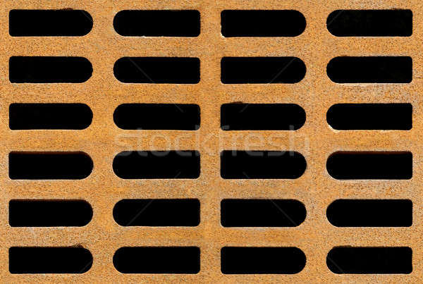 Rusty drain grate seamless background texture Stock photo © Balefire9