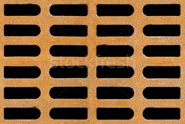 Enferrujado drenar sem costura textura ferro Foto stock © Balefire9