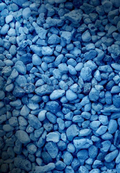 Kék dekoratív kő függőleges Stock fotó © Balefire9