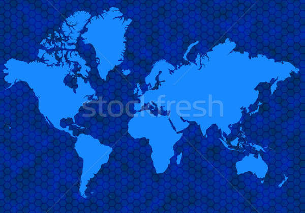 Blue global map Stock photo © Balefire9