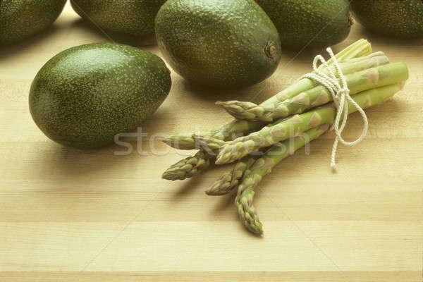 Spárga hentes étel zöldség organikus hozzávalók Stock fotó © Balefire9