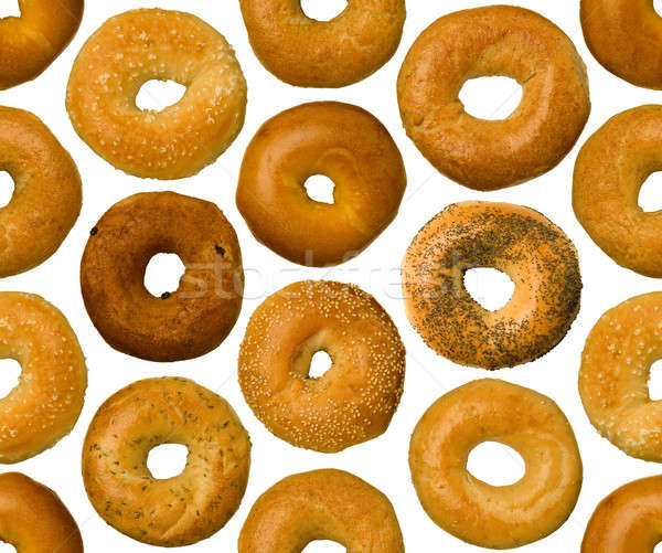 Different types of bagels, seamlessly tileable Stock photo © Balefire9