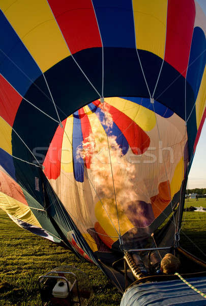 Hot air balloon being inflated in preparation for flight Stock photo © Balefire9