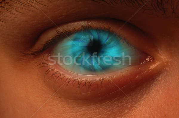 Blue Vortex in an Eyeball Stock photo © Balefire9
