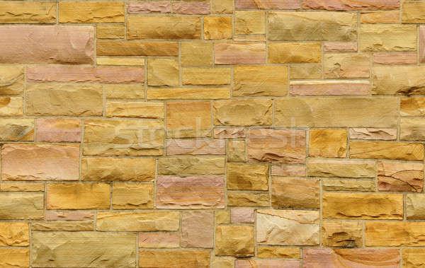 Sem costura ouro rosa alvenaria parede tamanho Foto stock © Balefire9