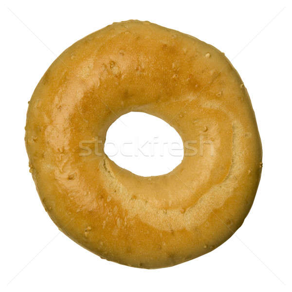 Oat bran bagel against white Stock photo © Balefire9