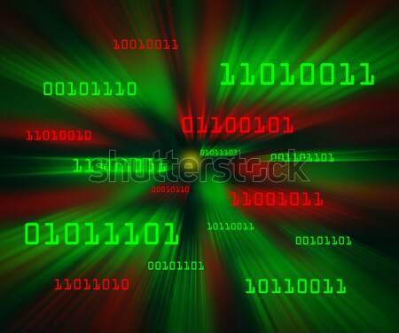 Artifical intelligence as symbolized by green and red binary cod Stock photo © Balefire9