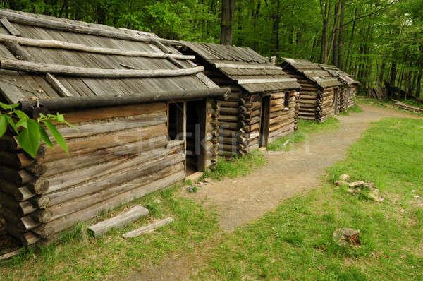 Revolutionary War cabin replicas Stock photo © Balefire9
