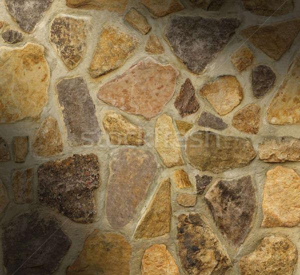 Kőművesmunka fal alakú kövek Stock fotó © Balefire9