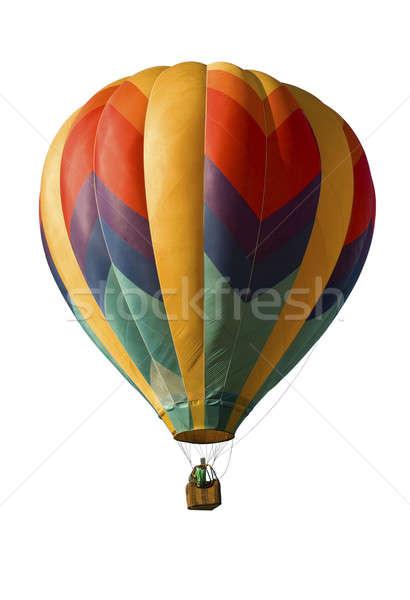 Hot-air Balloon Against White Stock photo © Balefire9