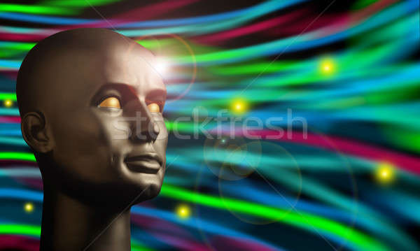 Android head watching swirling colors Stock photo © Balefire9