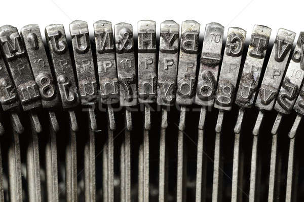 Close-up of vintage typewriter letter &  symbol keys Stock photo © Balefire9