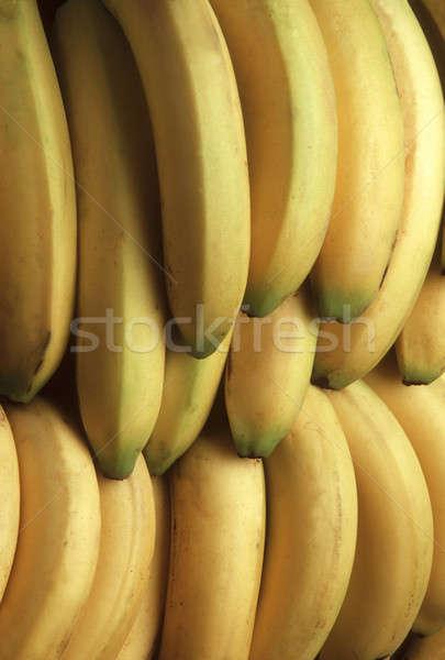 Stock photo: Bunches of yellow bananas