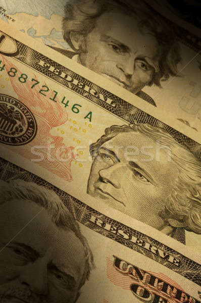 U.S. banknotes of various dollar denominations ($20, $50 and $10 Stock photo © Balefire9