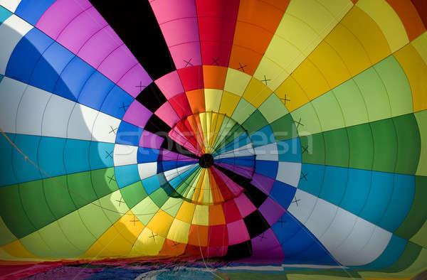 Interior of a hot-air balloon envelope Stock photo © Balefire9