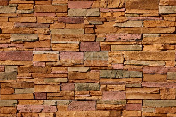 Irregular multi-colored bricks, seamlessly tileable Stock photo © Balefire9