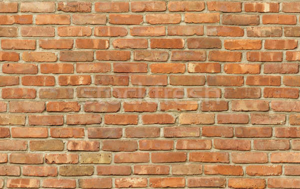 Stock photo: Weathered red brick wall texture