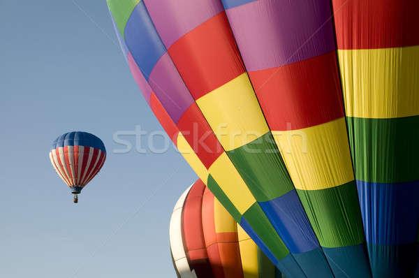 красочный горячей воздуха шаров Blue Sky небе Сток-фото © Balefire9
