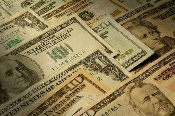 Bankbiljetten dollar geld cash economie Stockfoto © Balefire9