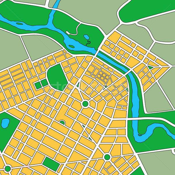 Map of Generic Urban City Stock photo © Balefire9