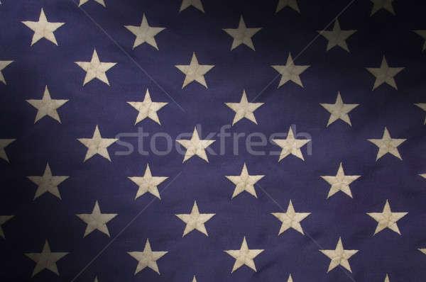 Csillagok mező kék amerikai zászló fehér szövetség Stock fotó © Balefire9