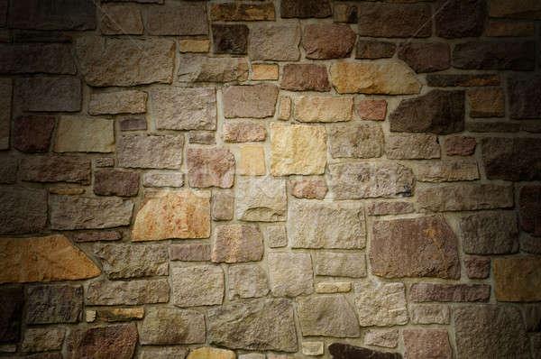 Kőművesmunka fal tarka kő kockák Stock fotó © Balefire9