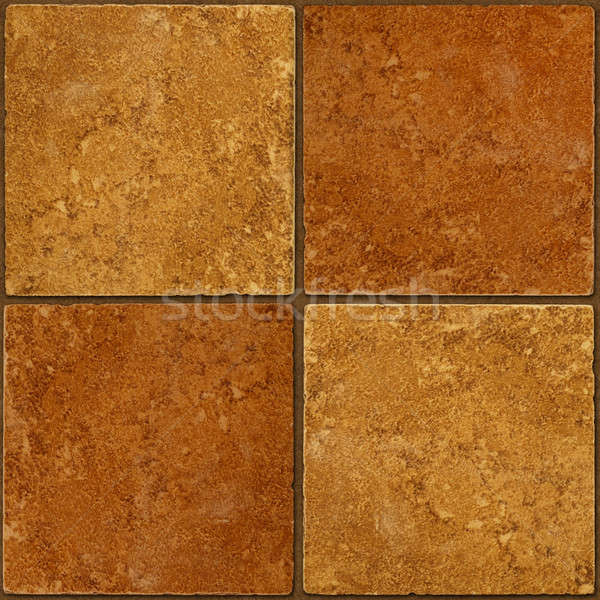 Ceramic two-tone brown stone tiles seamlessly tileable Stock photo © Balefire9