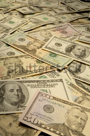 Distorted American banknotes cash money Stock photo © Balefire9