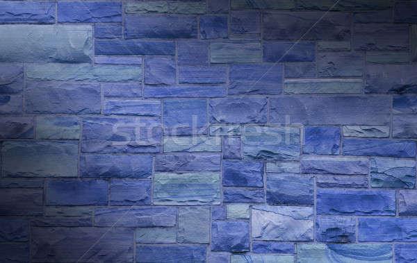 青 メーソンリー 壁 サイズ 長方形の 石 ストックフォト © Balefire9