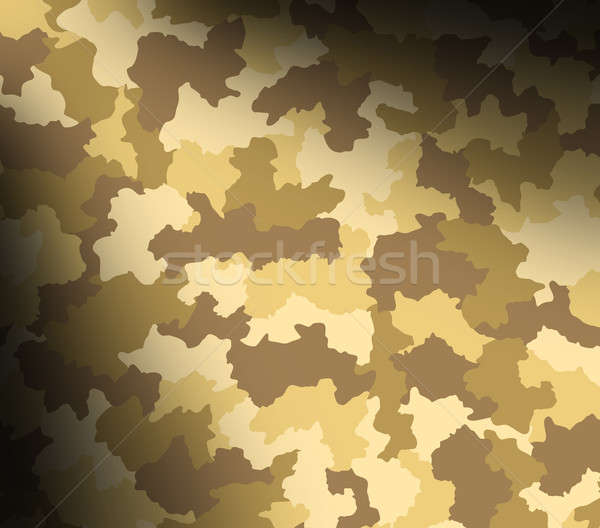 Desert camouflage pattern lit diagonally Stock photo © Balefire9