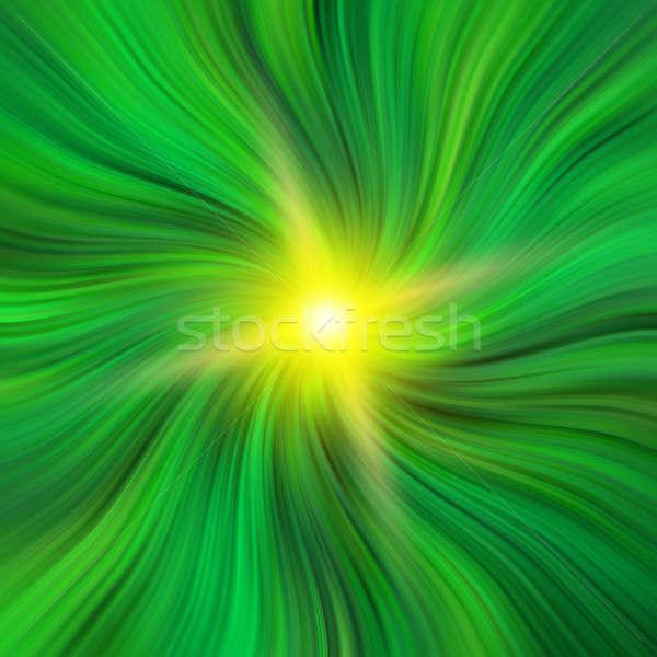 Green Vortex with a Starburst Stock photo © Balefire9